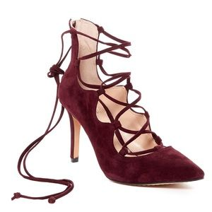 Vince Camuto Barsha Lace Up Pump Pointed Toe Heels